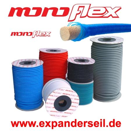 20m Monoflex Expanderseil ø 6mm grün Gummiseil Planen